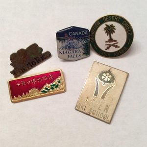 Vintage country pins.